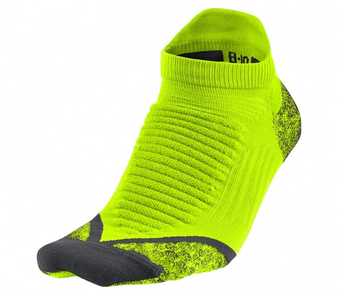 Nike Elite Running Cushioned NoShow löparstrumpor (grön/svart) L (EU 43 46) L (EU 43 46)