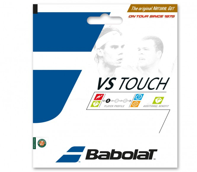 cordages de tennis - BABOLAT VS TOUCH BT7 12M  NOIR  1,30MM