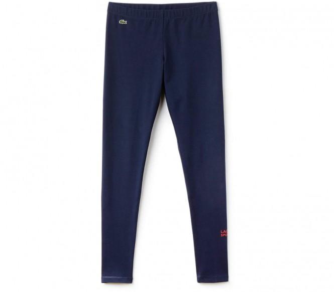 Lacoste - Pantalon de tennis pour femmes (bleu foncé/rouge) - L - 40
