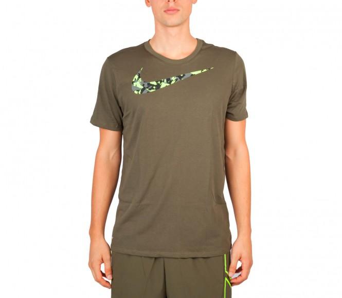 Nike DFCT Swoosh Camo Shortsleeve herr träningsshirt (khaki) M