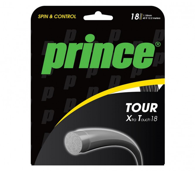 cordages de tennis - PRINCE TOUR XT 1,18MM 12M  NOIR