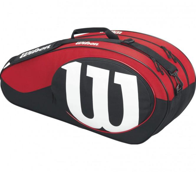 Match II 6 Pack Tennistasche (schwarz/rot)