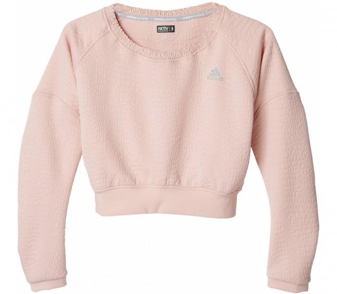 Adidas Cozy Dames Pullover (lichtroze) L