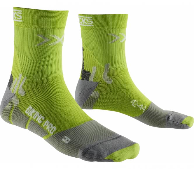 X-Bionic - Pro Bike Socken (hellgrün/grau) - 42...