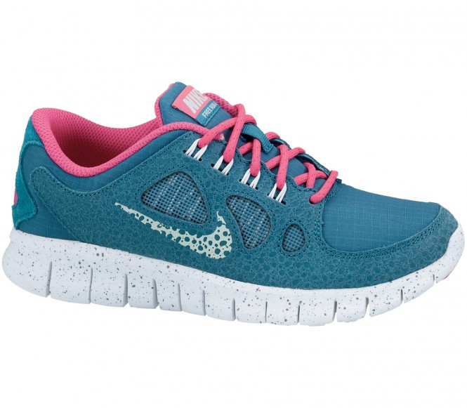 nike free 5 0 junior laufschuh blau pink running. Black Bedroom Furniture Sets. Home Design Ideas