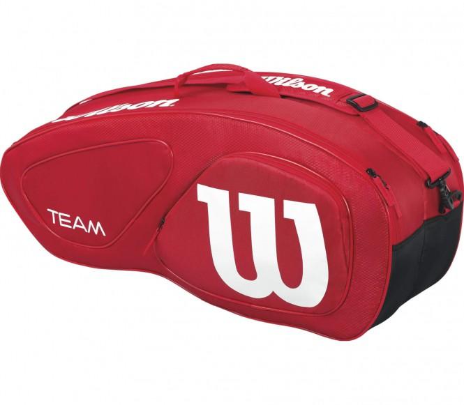 Team II 6 Pack Tennistasche (rot/weiß)