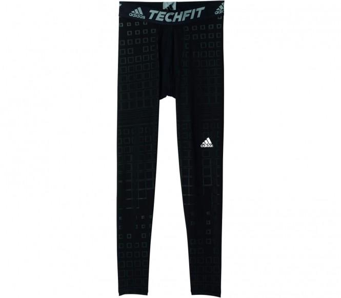 Adidas Techfit Base Warm Graphic Heren Trainingstight (zwart-grijs) S