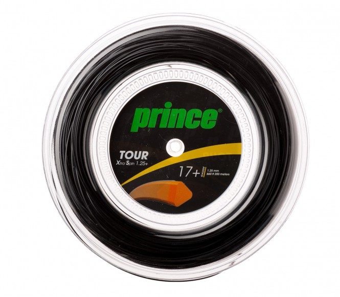 cordages de tennis - PRINCE TOUR XS 200M  NOIR  1,35MM
