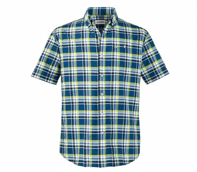 Schöffel Franko UV herr outdoor skjorta (blå/gul) M