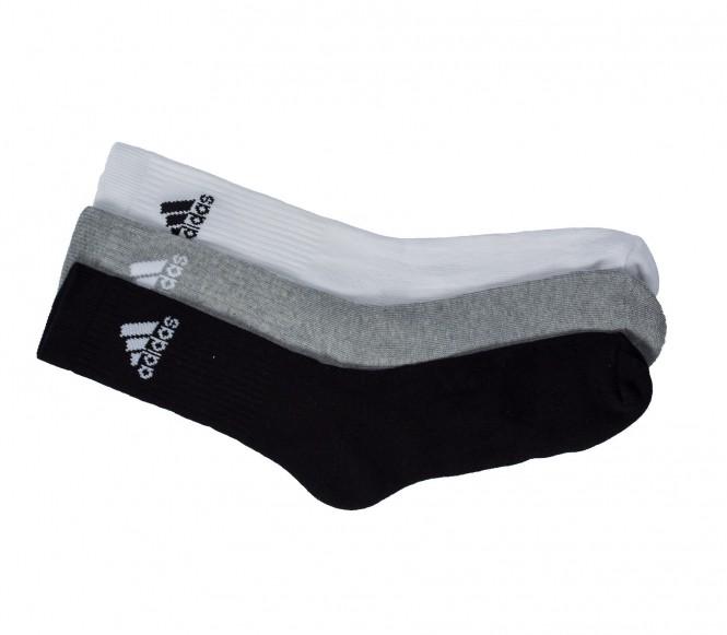 Adidas Adicrew 3pp Half Cushioned vit/grå/svart EU 47 50