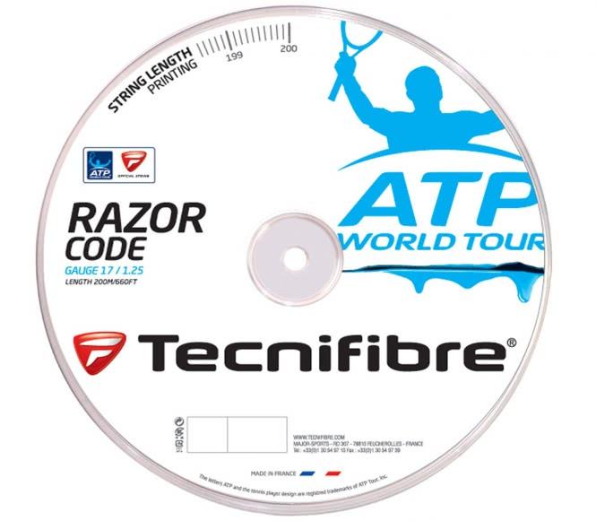 cordages de tennis - TECNIFIBRE RAZOR CODE  ATP  1,25MM 200M