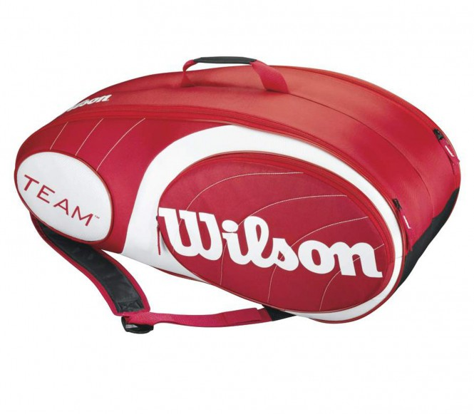 Team 9er Tennistasche (rot/wei