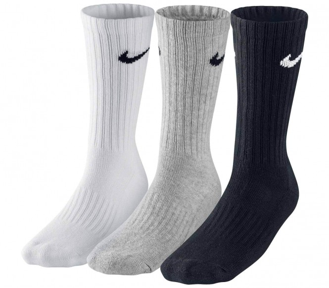 Nike Value Cotton Crew träningsstrumpor 3 styck (vit/grå/svart) M (EU 39 42) M (EU 39 42)