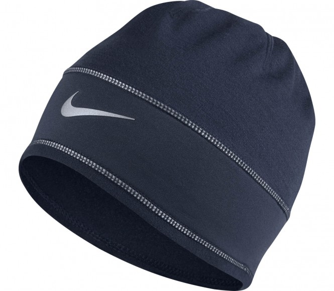 Nike - Dry Knit Laufbeanie (dunkelblau)