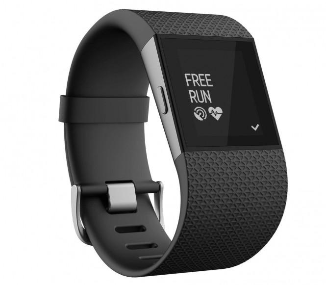 Fitbit - Surge Stor löpararmbandsklocka (svart)