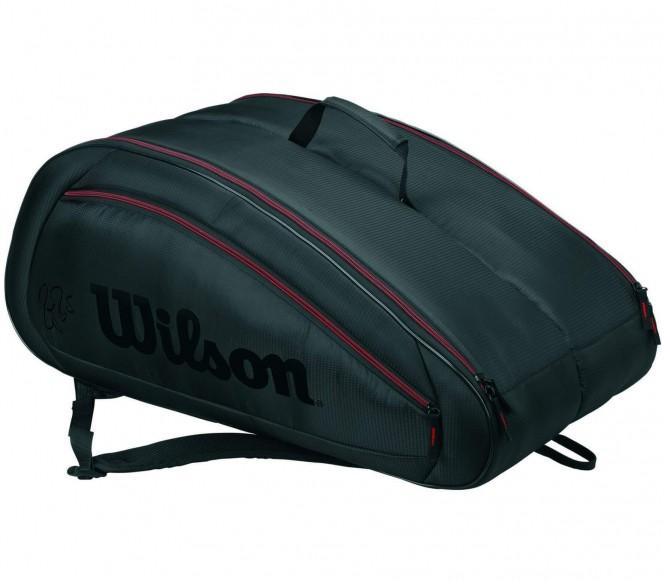 Fed Team 12 Pack Tennistasche (grau/schwarz)
