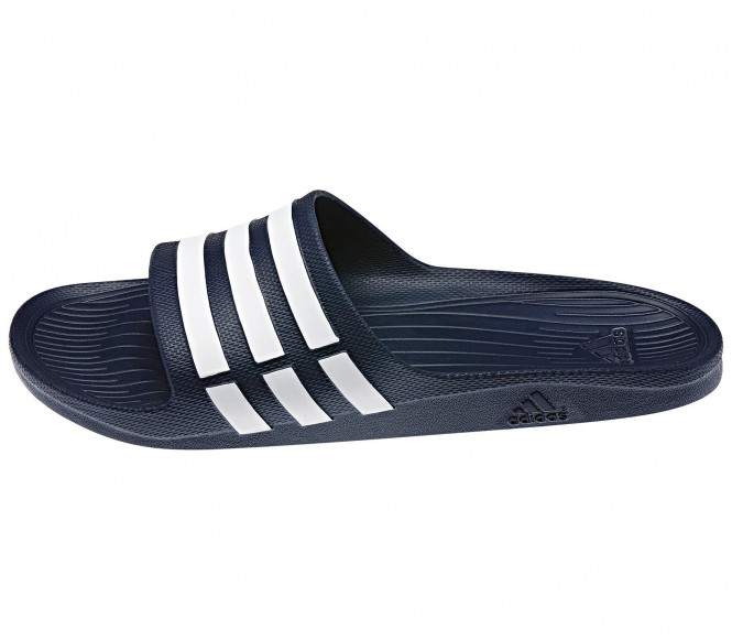 Adidas Duramo Slide blauw-wit EU 44 2-3 UK 10