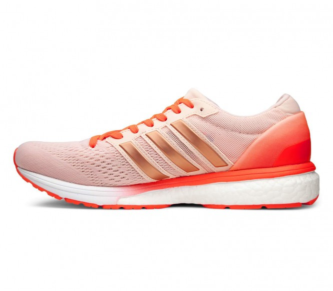 adidas Women's Adizero Boston 6 Running Shoes Pink US 6.5-UK 5