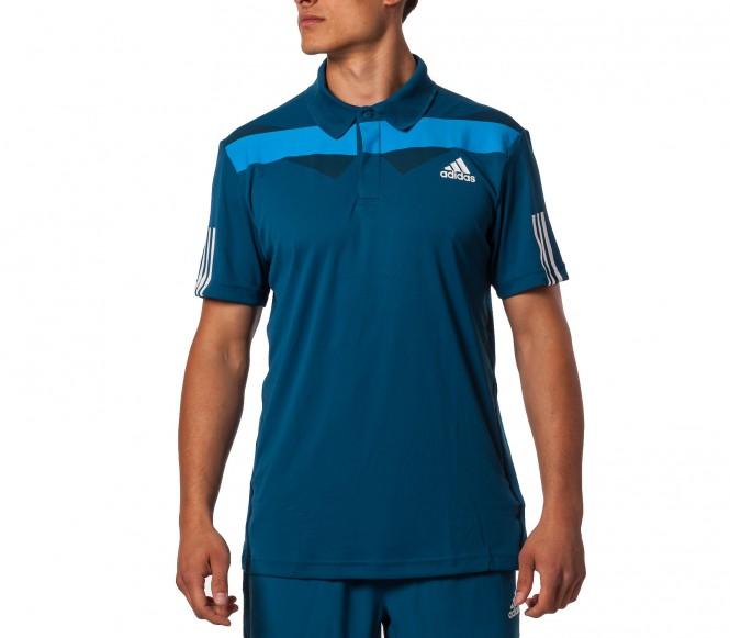 Adidas Barricade Polo Herr Shirt (blå/vit) S