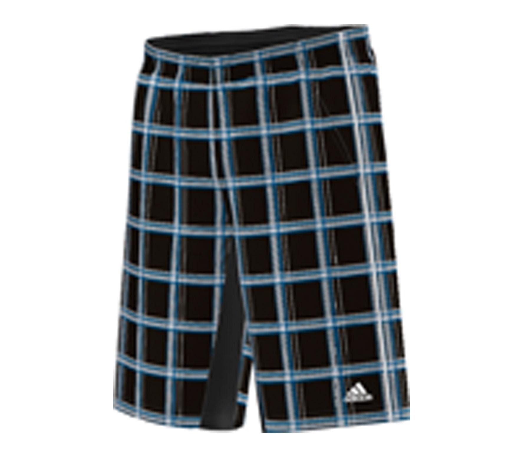 adidas ts plaid bermuda herren short schwarz wei tennis tennisbekleidung herren g nstig. Black Bedroom Furniture Sets. Home Design Ideas